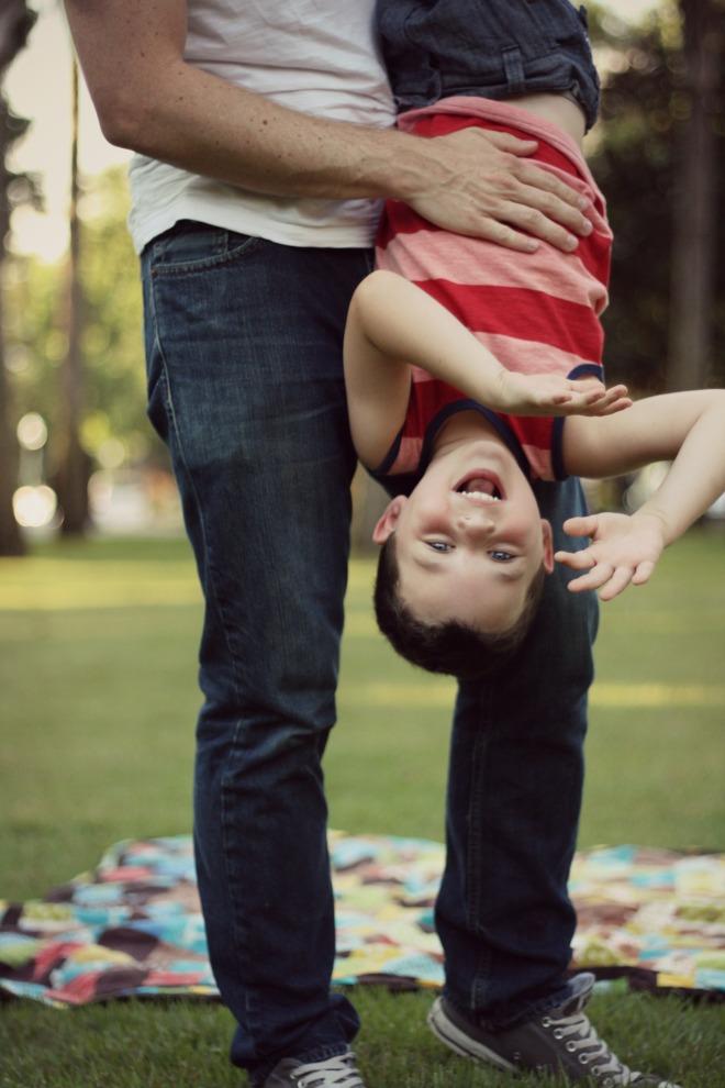 Miles Hanging w Dad bent arms