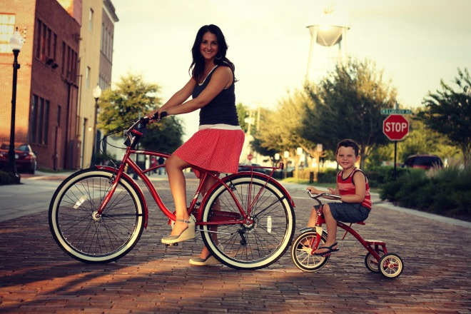Miles & Mom Bike Train