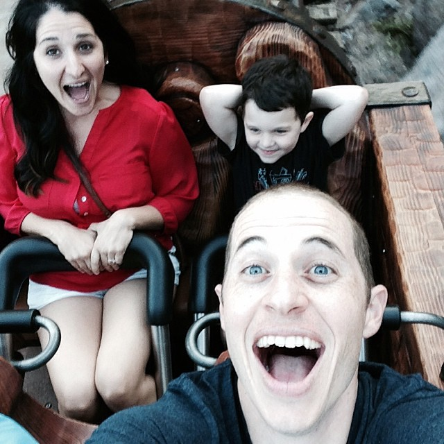 These guys got Mommy to go on a roller coaster bc Mine Train was so fun!